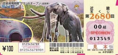 「琵琶湖博物館」図柄の近畿宝くじが発売されます!